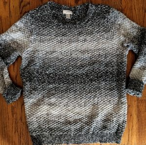 🍂 Marled Gray Thick &Cozy Knit Ann Taylor Sweater